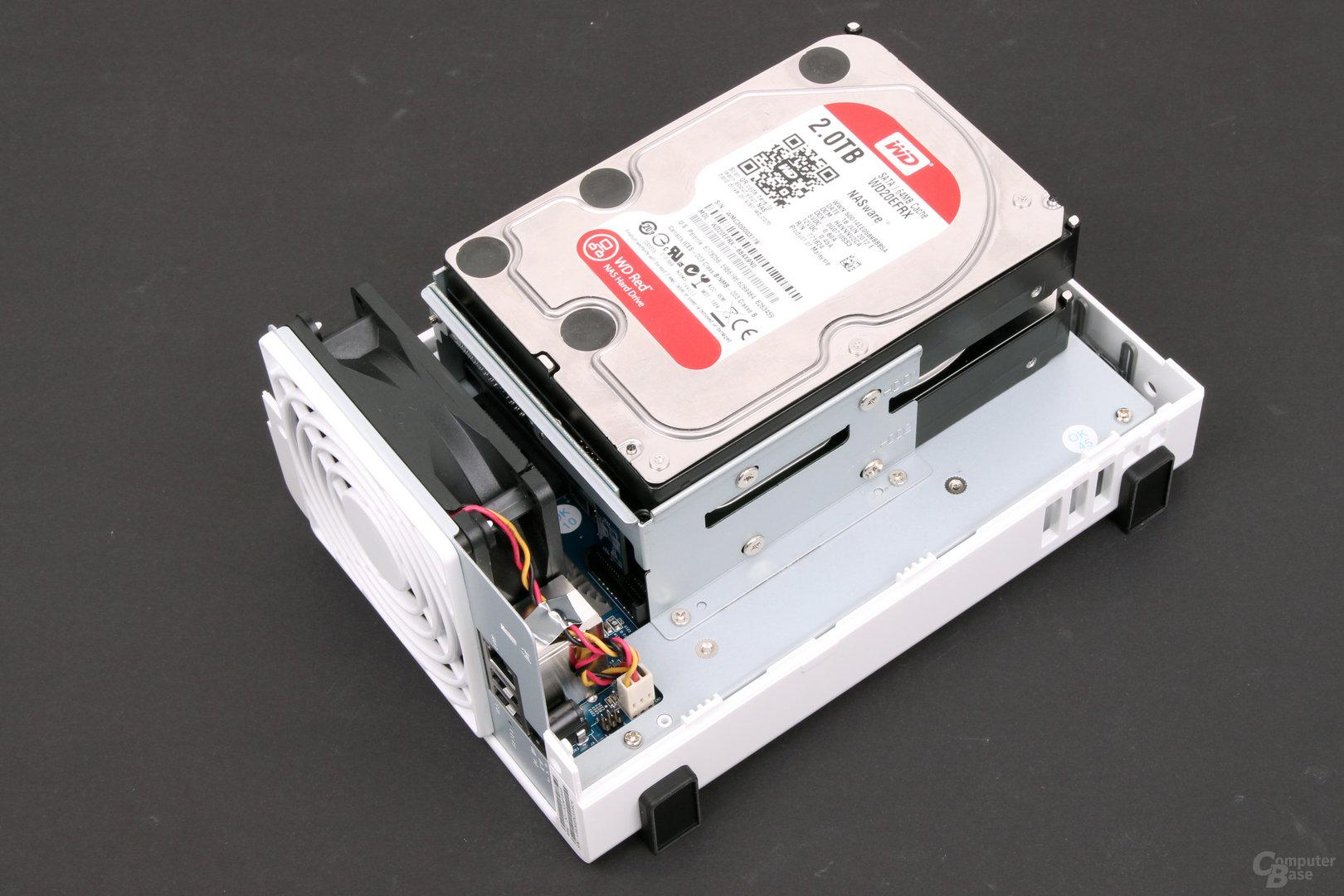 Synology DS214se – eingebaute Festplatten