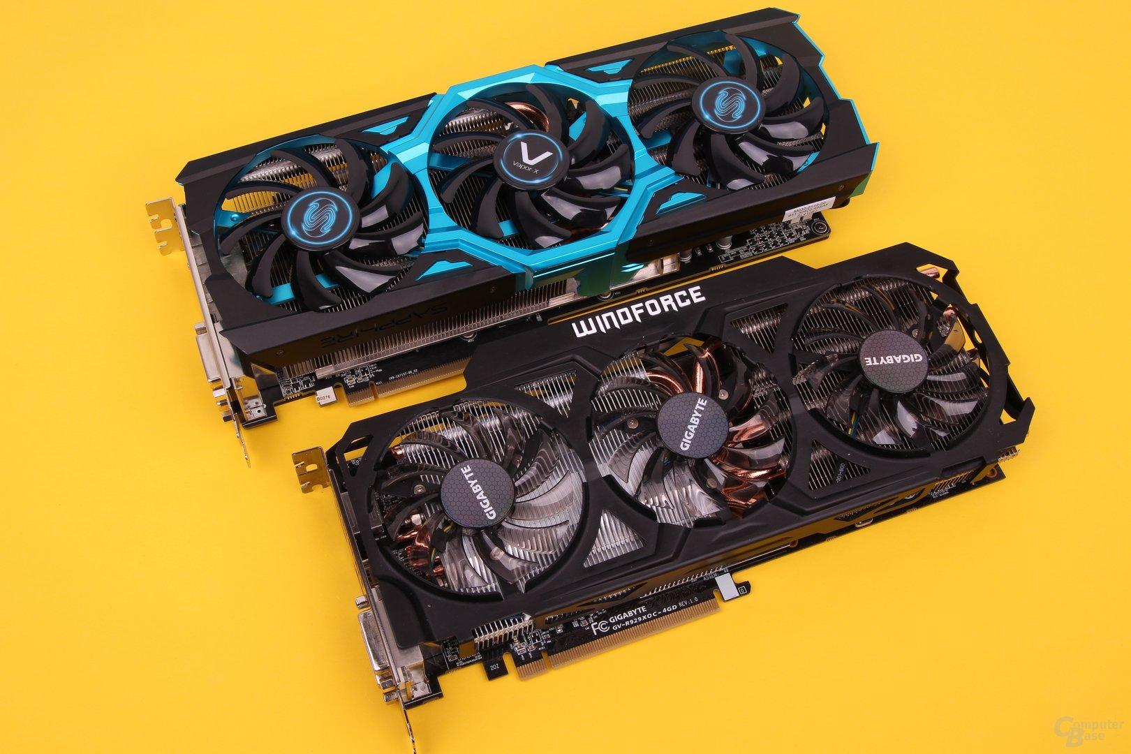 Sapphire Vapor-X R9 290 und Gigabyte R9 290X WindForce 3X OC