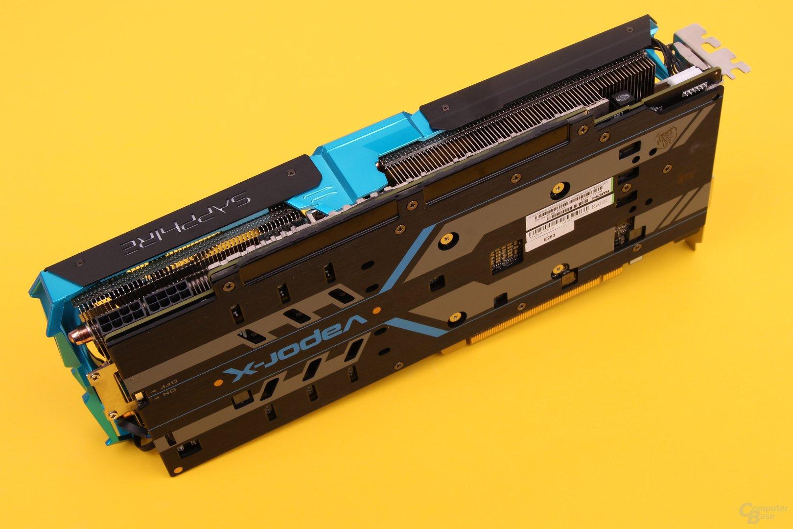 "Sapphire Vapor-X R9 290 – Rückseite mit ""Backplate"""
