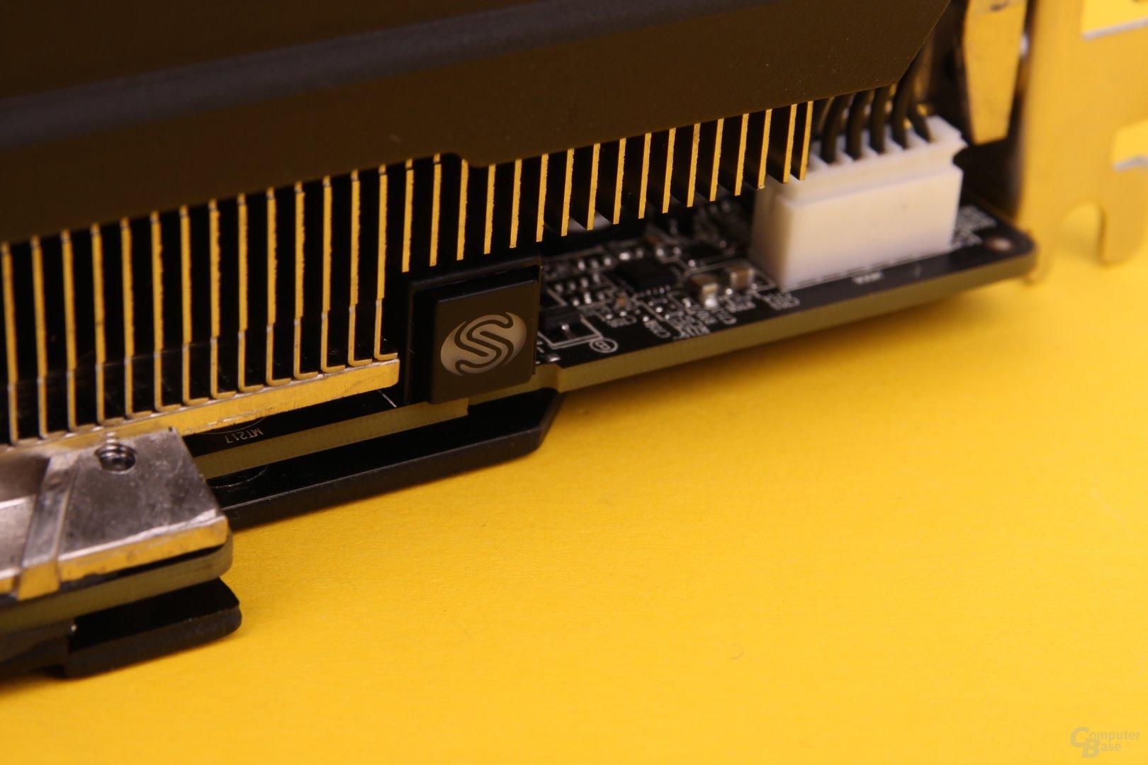 Sapphire Vapor-X R9 290 – Schalter für die Lüftersteuerung
