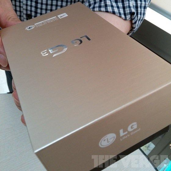 Angebliche Verpackung des LG G3