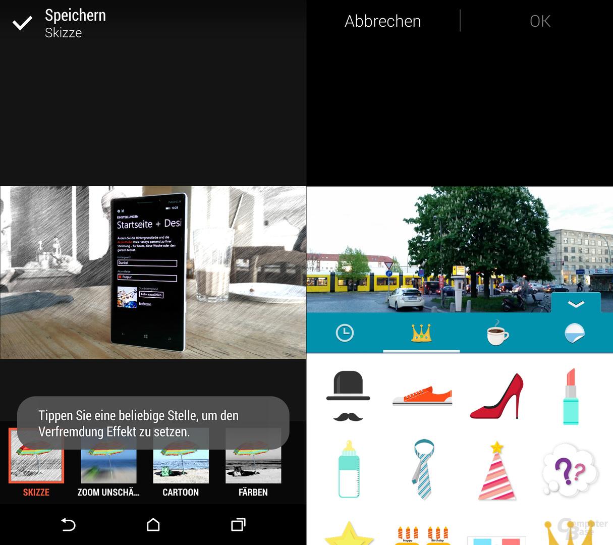 HTC One (M8) & Samsung Galaxy S5: Skizzen und Aufkleber