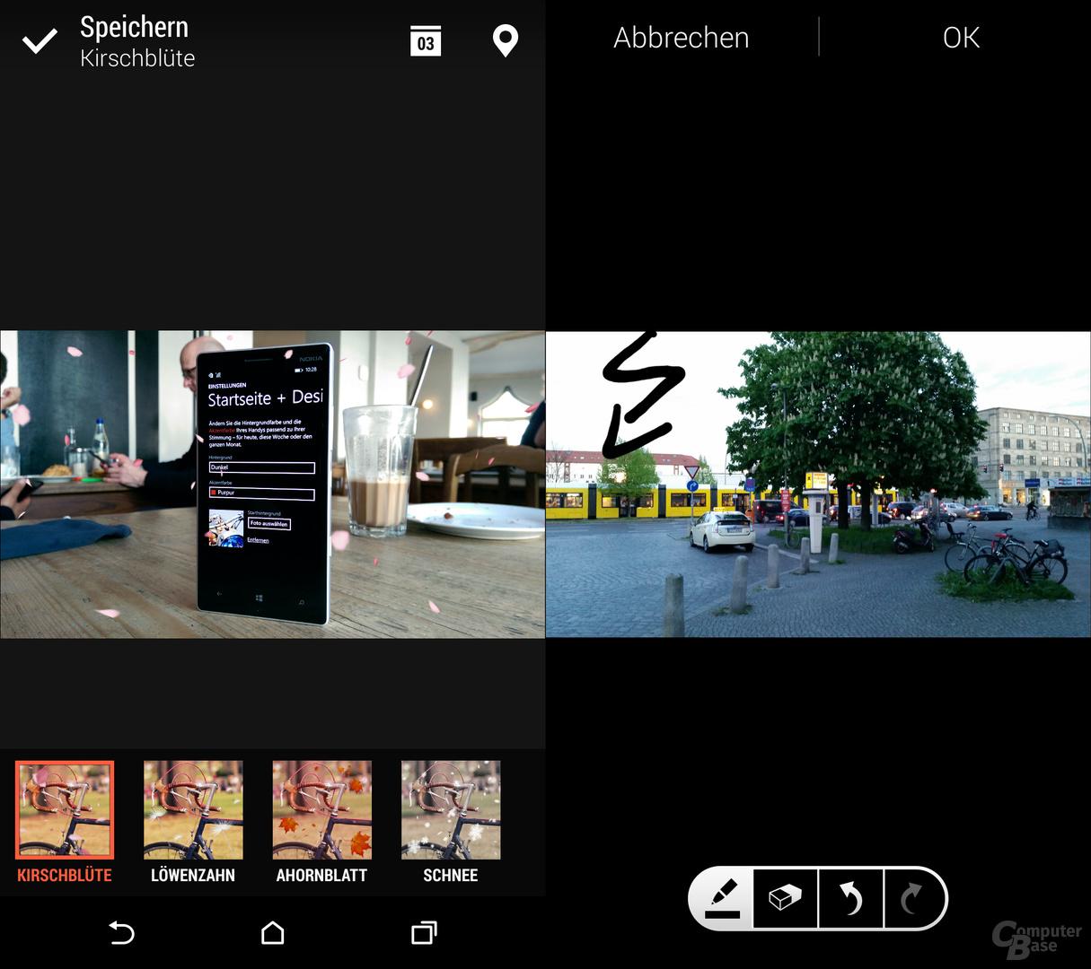 HTC One (M8) & Samsung Galaxy S5: Jahreszeiten & Malen