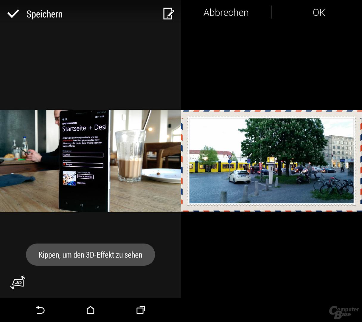 HTC One (M8) & Samsung Galaxy S5: 3D-Effekt und Rahmen