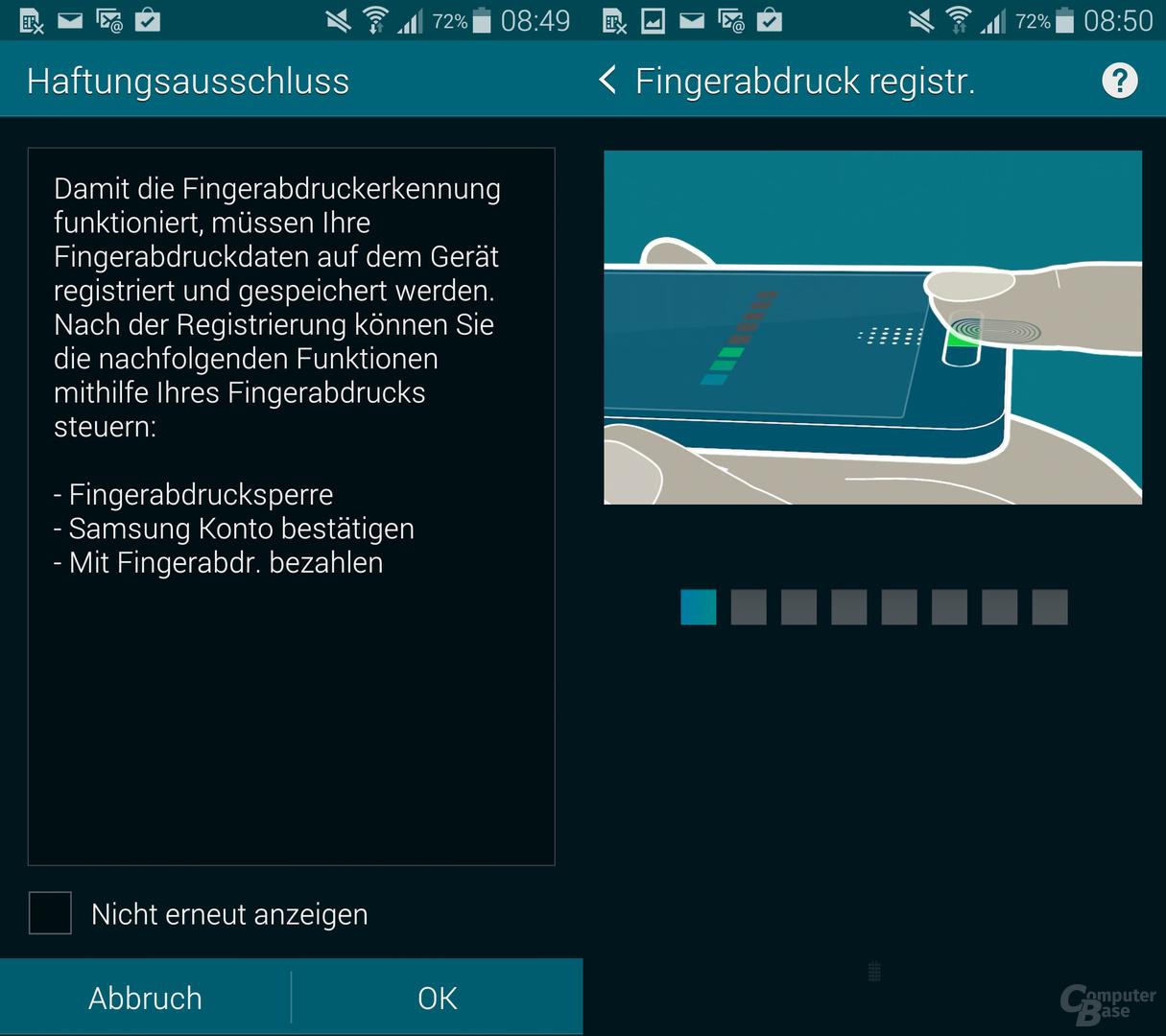 Samsung Galaxy S5: Fingerabdruckscanner
