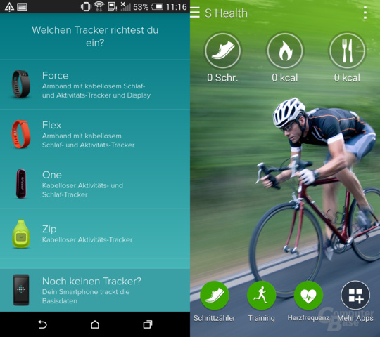HTC One (M8) & Samsung Galaxy S5: Fitness-Apps