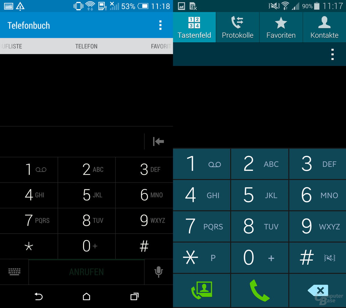 HTC One (M8) & Samsung Galaxy S5: Wählfeld