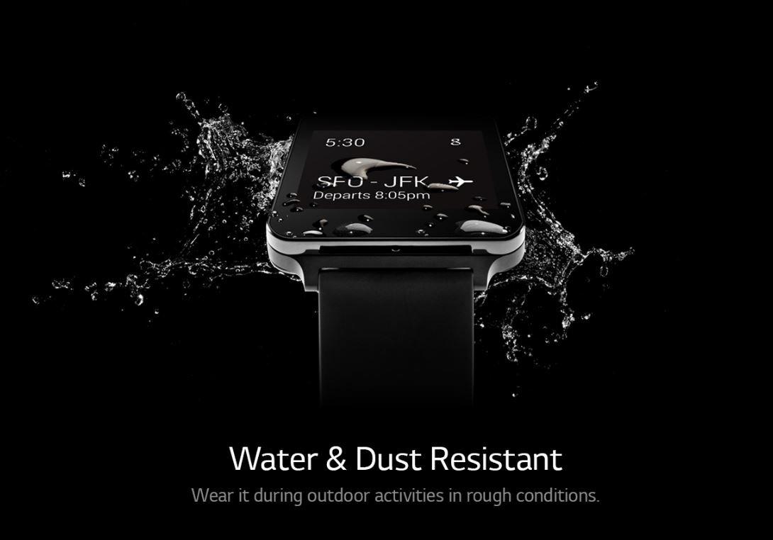 LG G Watch ist wasserabweisend