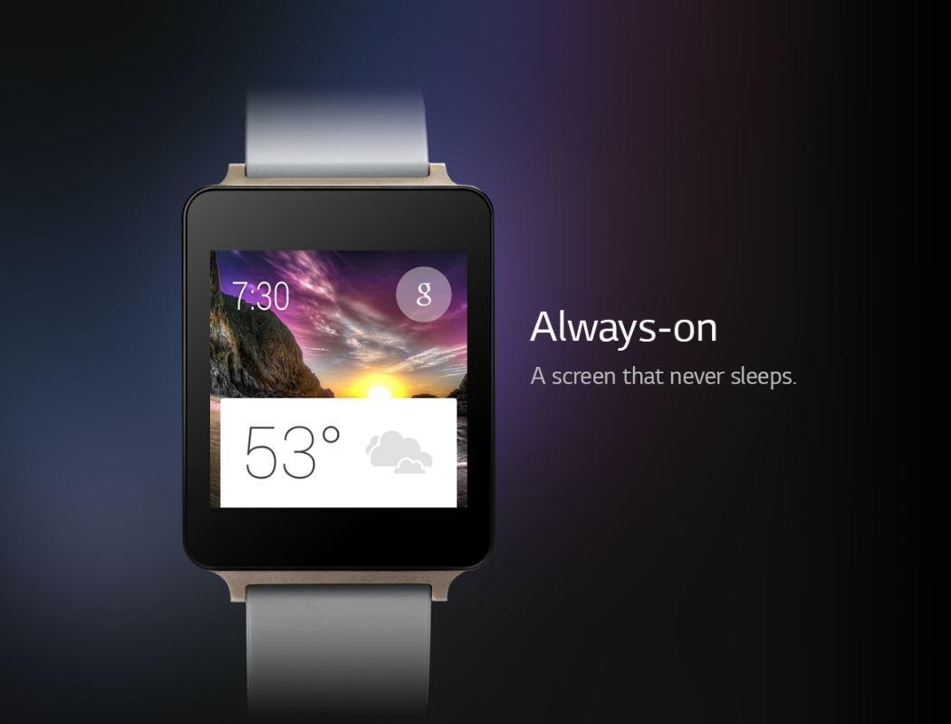 LG G Watch: Mit Display, das niemals schläft