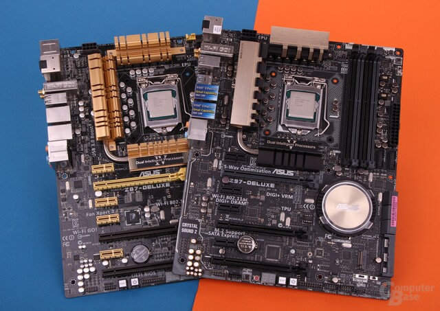 "Asus Z87-Deluxe und Z97-Deluxe mit ""Haswell Refresh""-CPUs"
