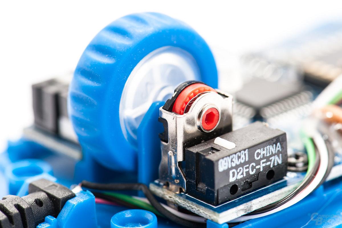Mechanischer Scroll-Encoder mit sehr präziser Rückmeldung