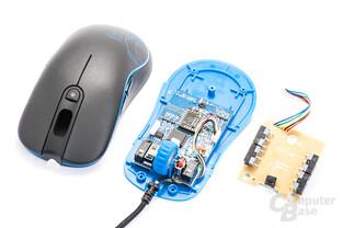 Kleines Haupt-PCB und Zusatzplatine für die Navigationstasten-Schalter