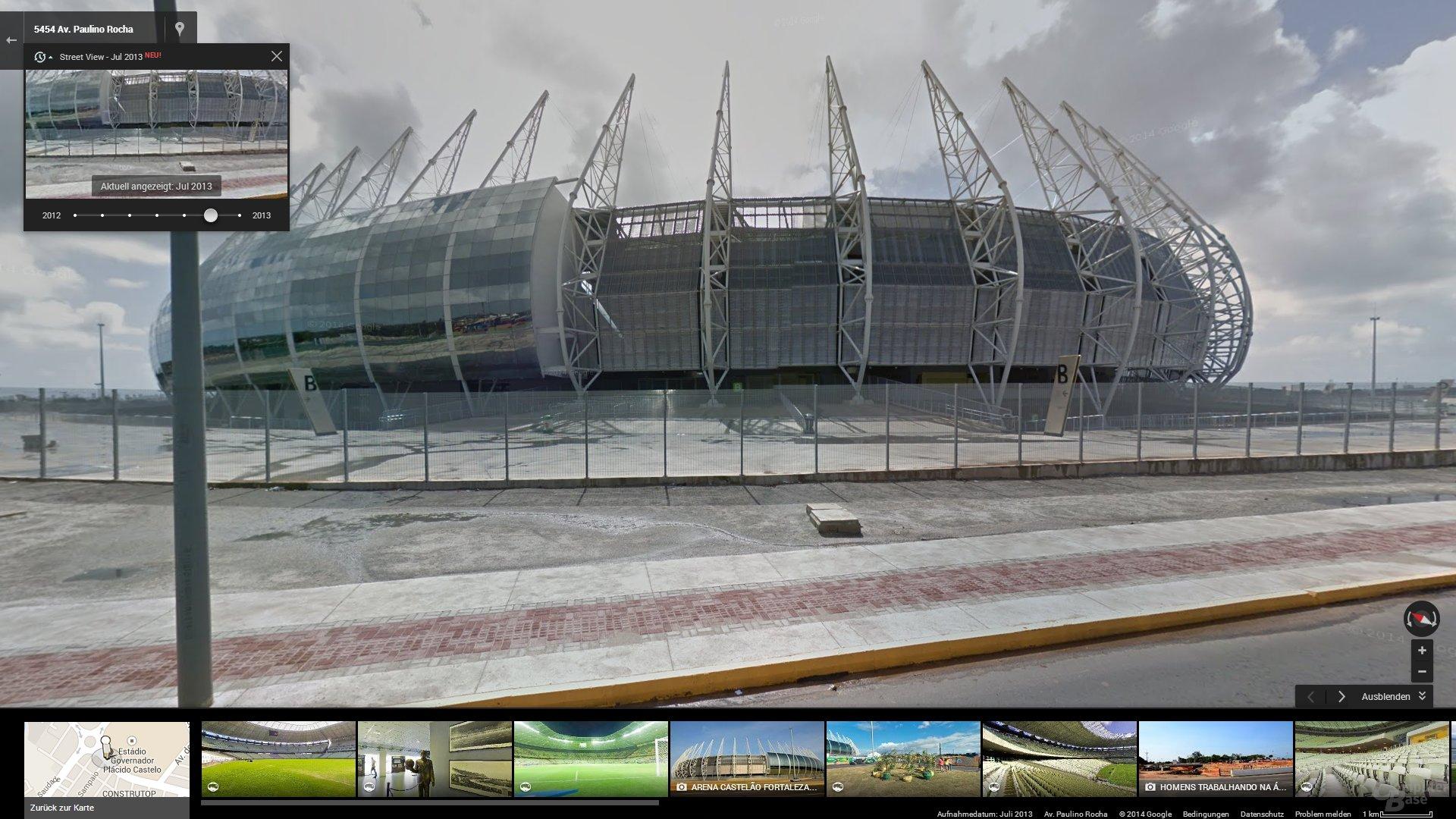 Zeitreise mit Google Street View: 2014 World Cup Stadium in Fortaleza, Brazil