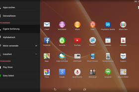 Sony Xperia Z2 Tablet App-Drawer