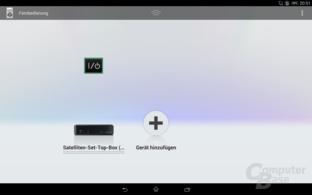 Sony Xperia Z2 Tablet IR-Fernbedienung-App