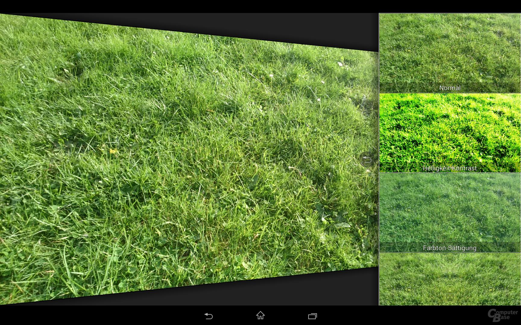 Sony Xperia Z2 Tablet Kamera-App Effekt-Übersicht
