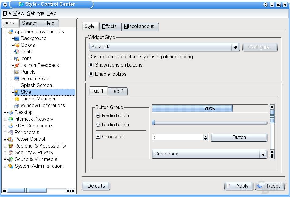 KDE 3.2 Alpha 1 (Keramik Style)