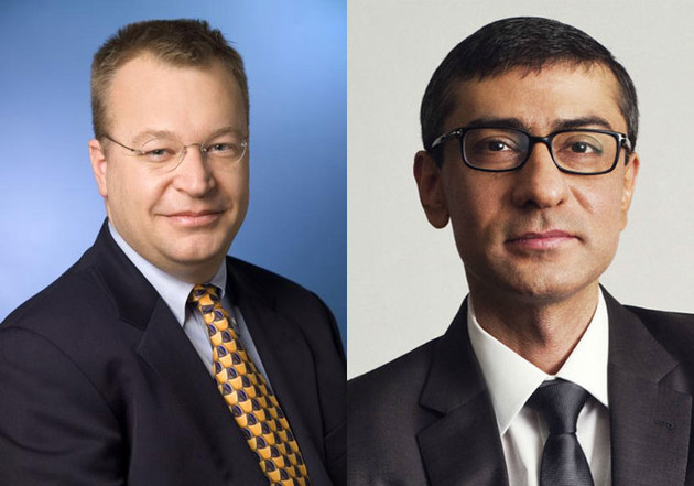 Nach Stehpen Elop (l.) wird Rajeev Suri (r.) neuer CEO bei Nokia