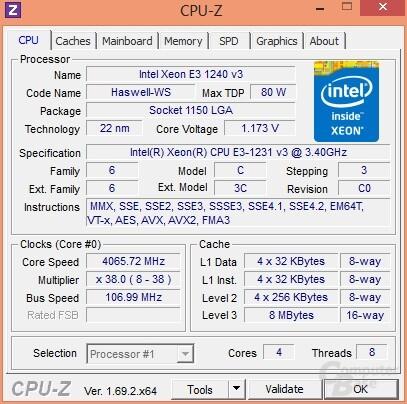 4.065 MHz - bei 107 MHz BCLK nicht mehr stabil