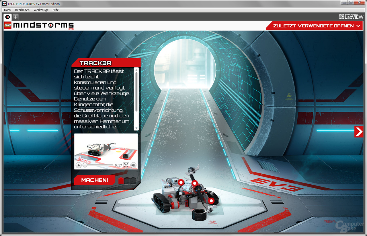 """Lego Mindstorms Lobby Modellauswahl """"Track3r"""""""