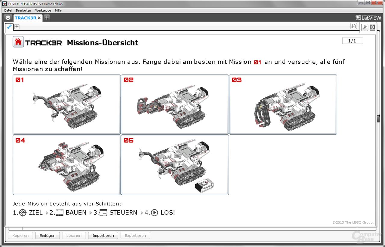 "Lego Mindstorms Missionen ""Track3r"""