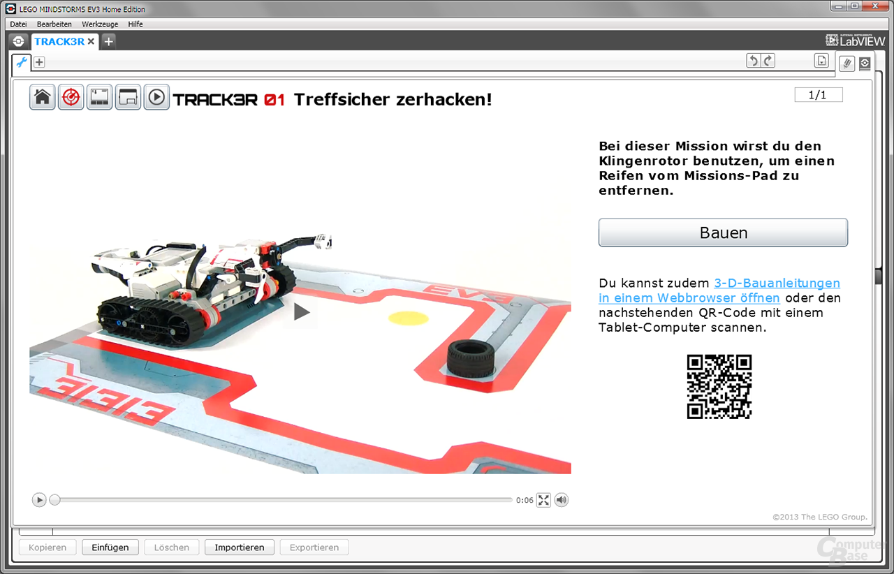 """Lego Mindstorms Anleitung """"Track3r"""""""
