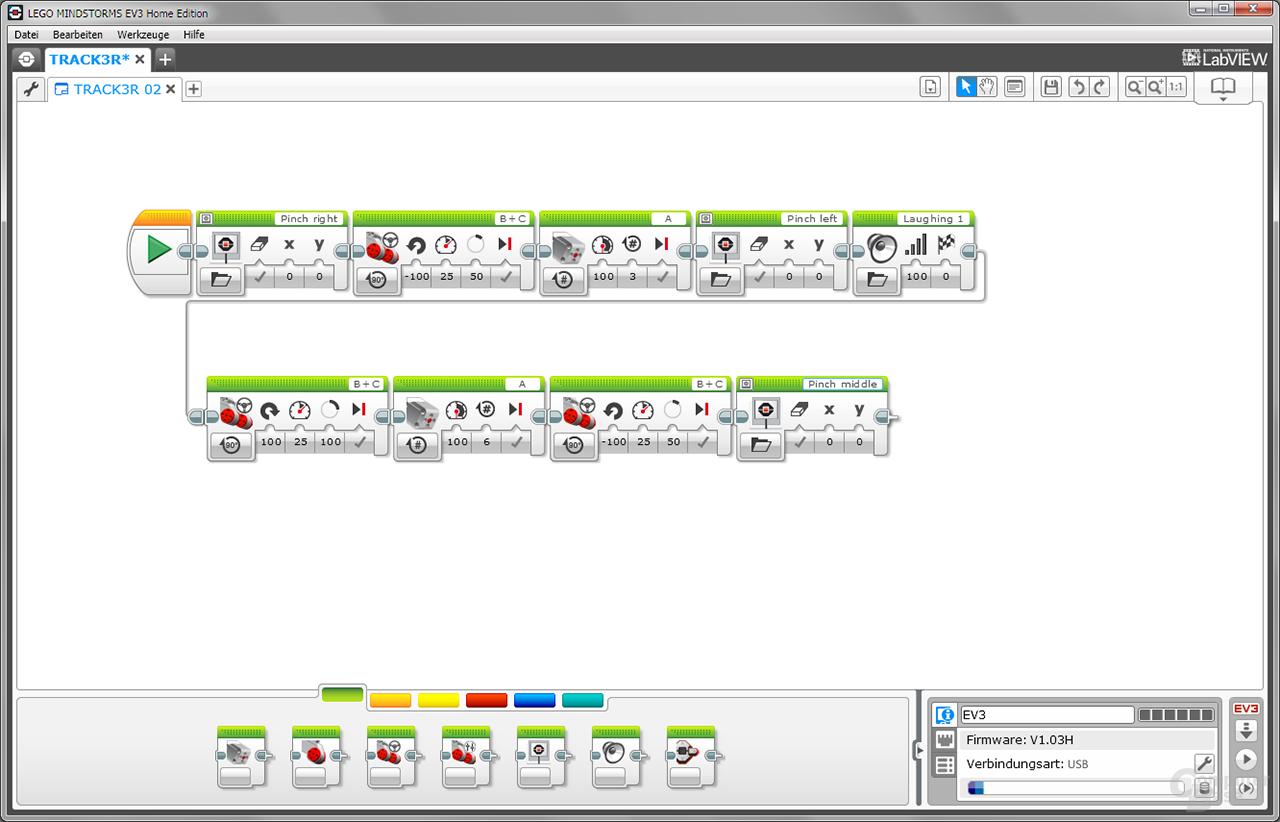 Lego Mindstorms grafische Programmieroberflläche