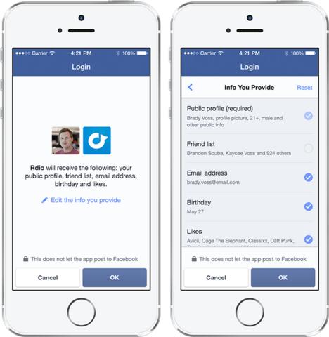Der neue Facebook-Login