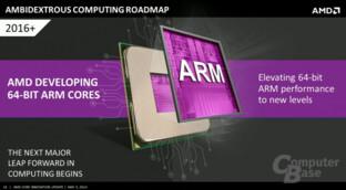 Selbst entwickelte ARM-Kerne von AMD ab 2016