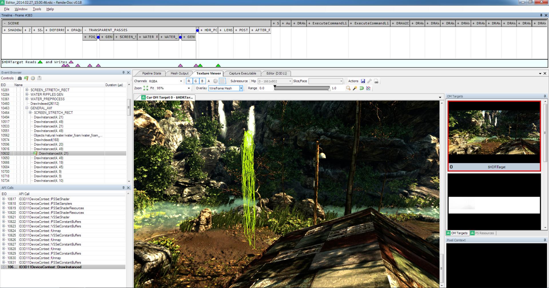 Bildanalyse mit Cryteks Renderdoc