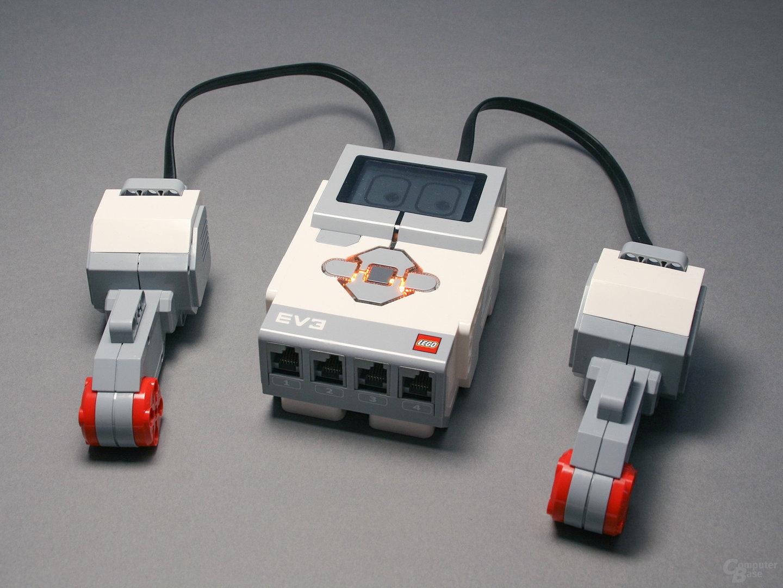 Lego-Mindstorms Brick & große Motoren