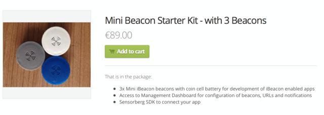 Drei iBeacons und die Software kosten 89 Euro