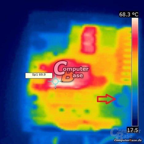 Wärmebild Sea Sonic Platinum Fanless 520 Watt