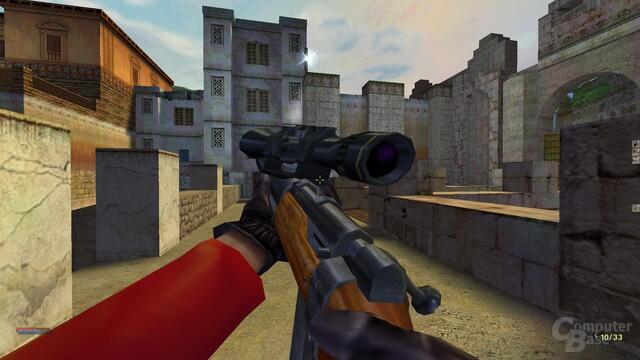 Der Widescreen-Mod passt das Sichtfeld für die Animationen der Waffen nicht an