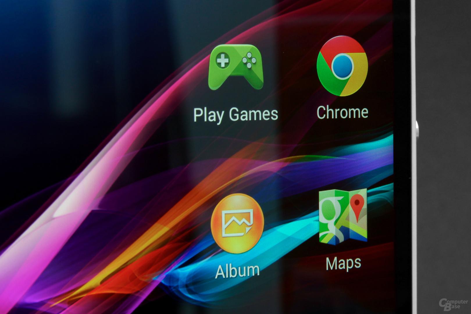 Display überzeugt mit Farben, Helligkeit, Kontrast und Blickwinkeln