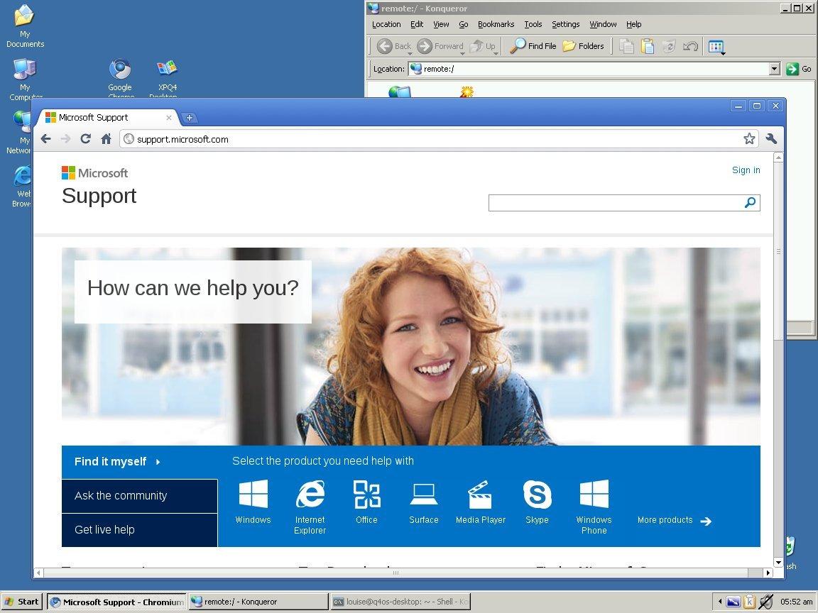 Der klassische Windows-XP-Desktop in Windows XP
