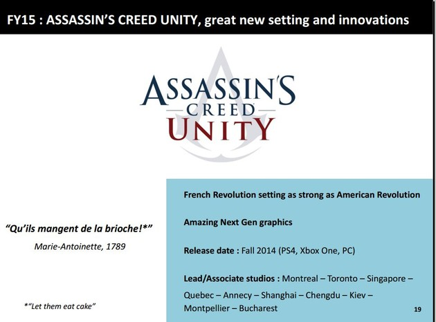 """Assassin's Creed Unity"" kommt im Herbst"