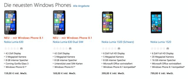 Microsoft verkauft jetzt Lumia-Smartphones