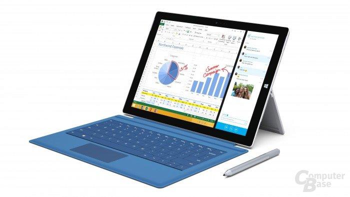 Das Microsoft Surface Pro 3 mit 12 Zoll