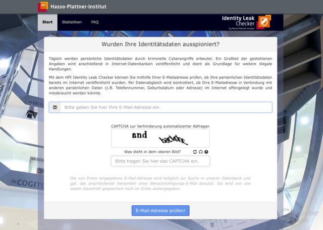 Identity Leak Checker des Hasso-Plattner-Instituts