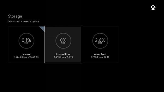 Das Juni-Update erlaubt die Verwendung externer Festplatten