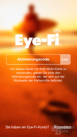 Eye-Fi mobi: Einrichtung