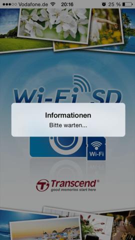 Transcend Wi-Fi SD: Konfiguration