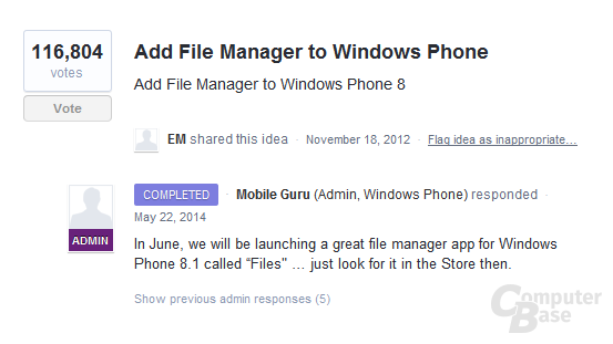 Datei-Manager - Files - Windows Phone 8