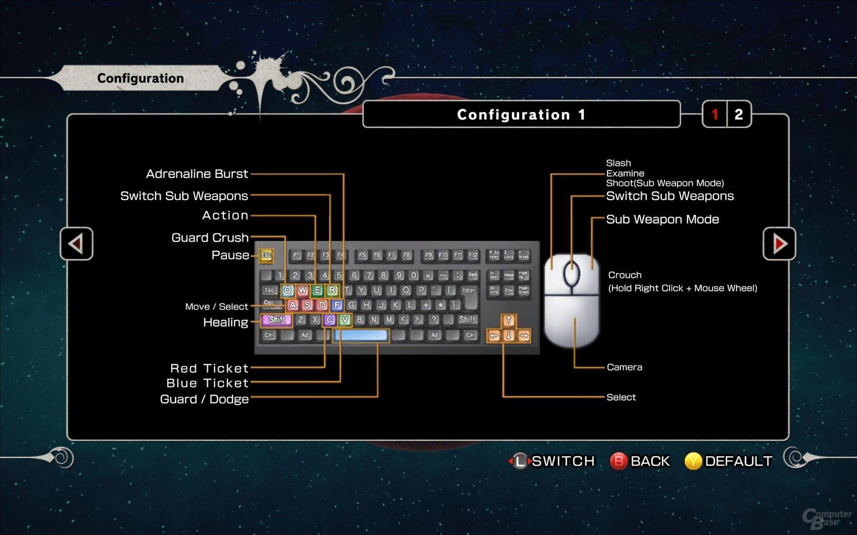 Steuerung per Tastatur und Maus #1