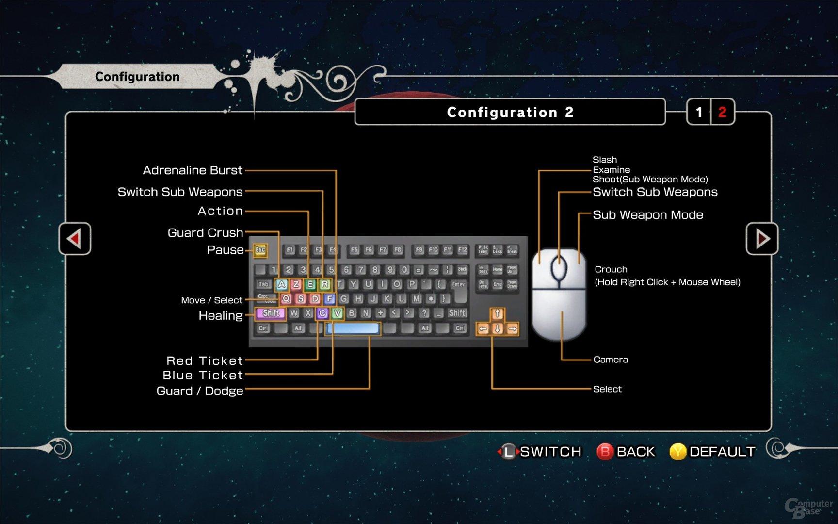 Steuerung per Tastatur und Maus #2