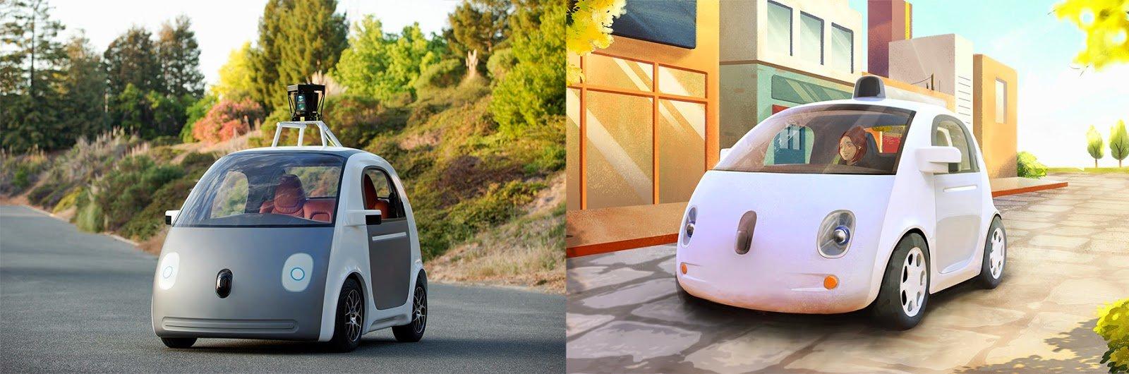 Prototyp des Self Driving Car von Google