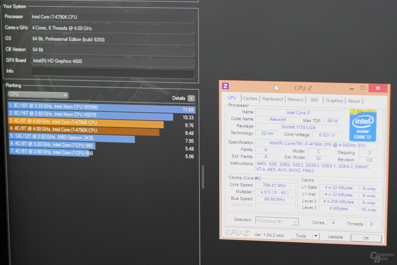 Intels Core i7-4790K in Cinebench 11.5