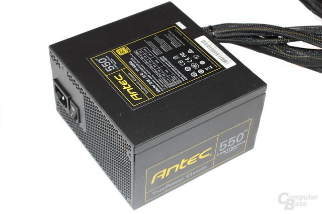 Antec TruePower Classic TP-550C: Deckel mit Datenblatt