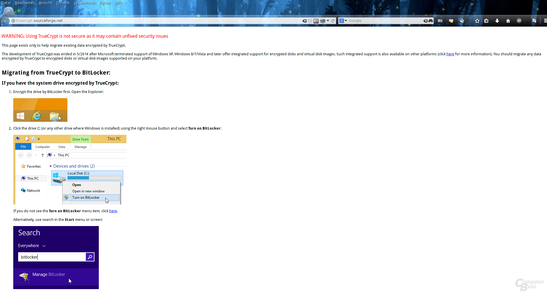 TrueCrypt Webseite